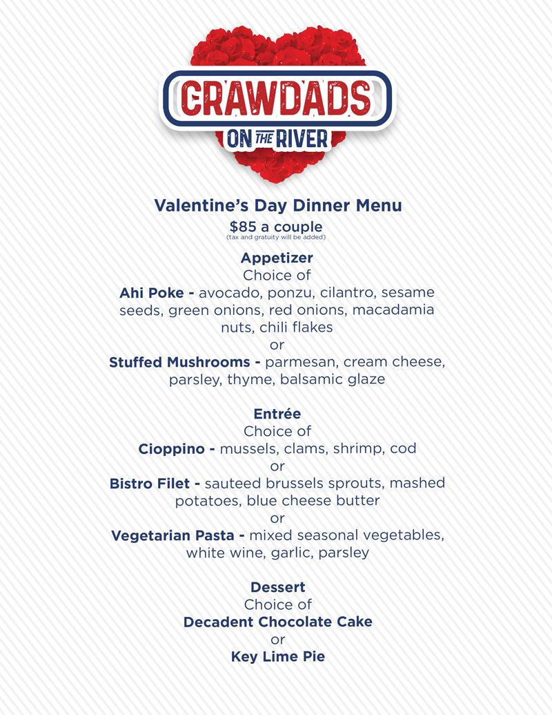 Crawdads menu