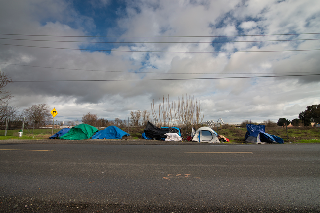 North B Street Homeless Camp