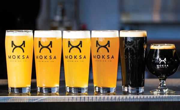 Moksa Brewing Co. beer