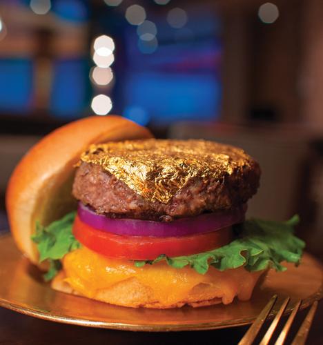 gold leaf burger