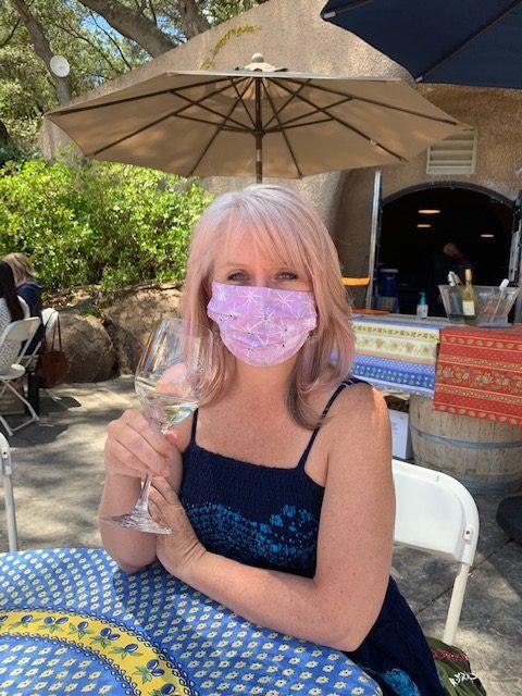 carrie wine tasting