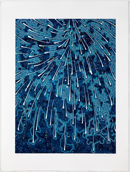 "Barbara Takenaga – ""Falling (blue concentrate)"""