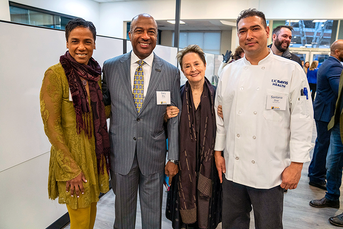 LeShelle May, Gary May, Alice Waters and Santana Diaz