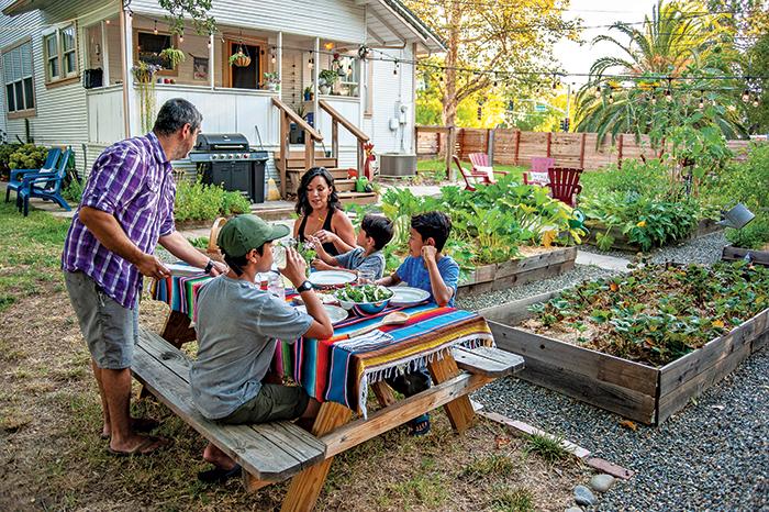 maldonado family in their garden