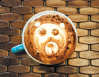 coffee Honey Bear Latte