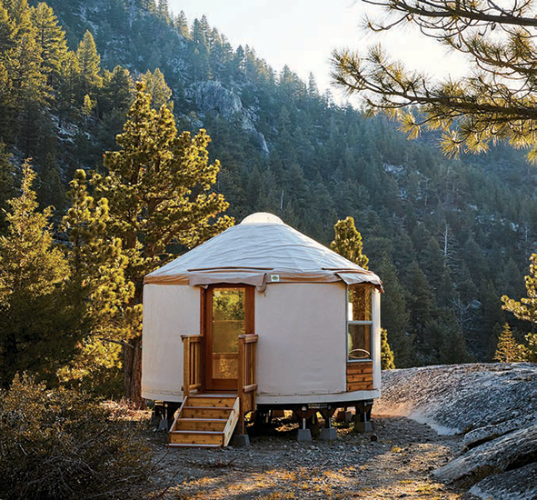 One of seven yurts at Wylder Campground. highway 88