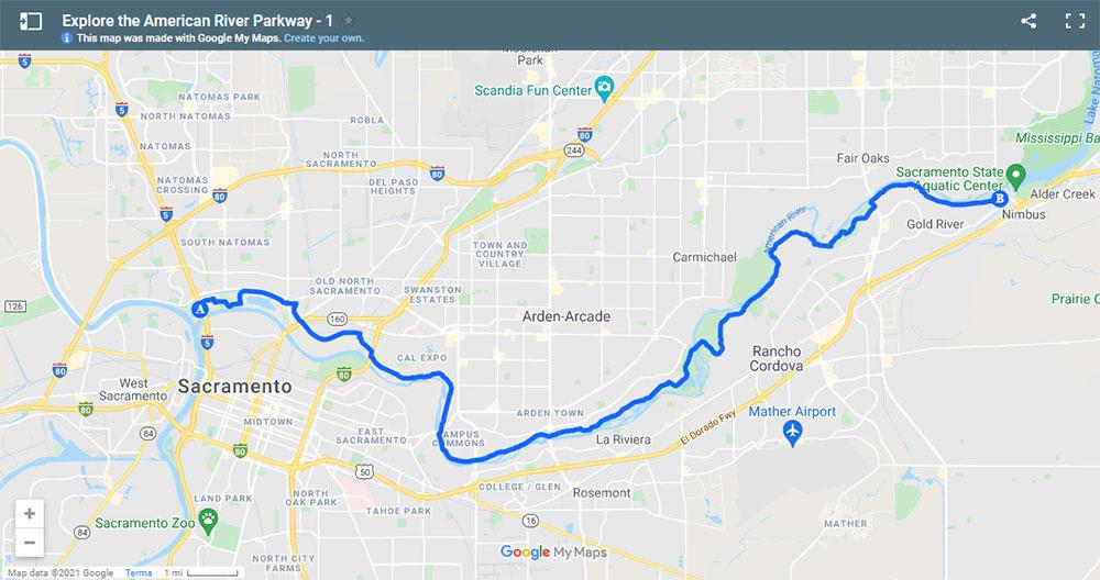 american parkway bike trail map