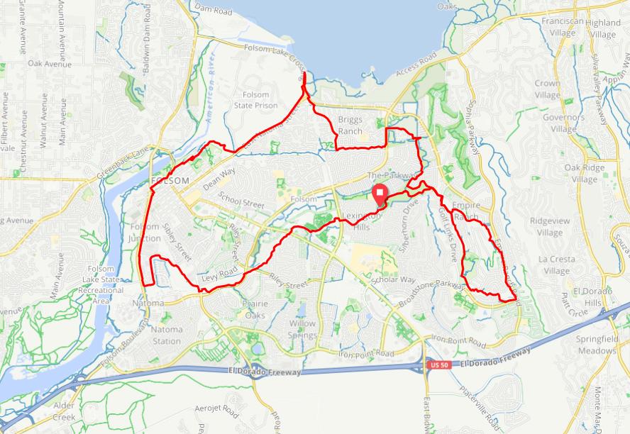 explore bike trails in folsom